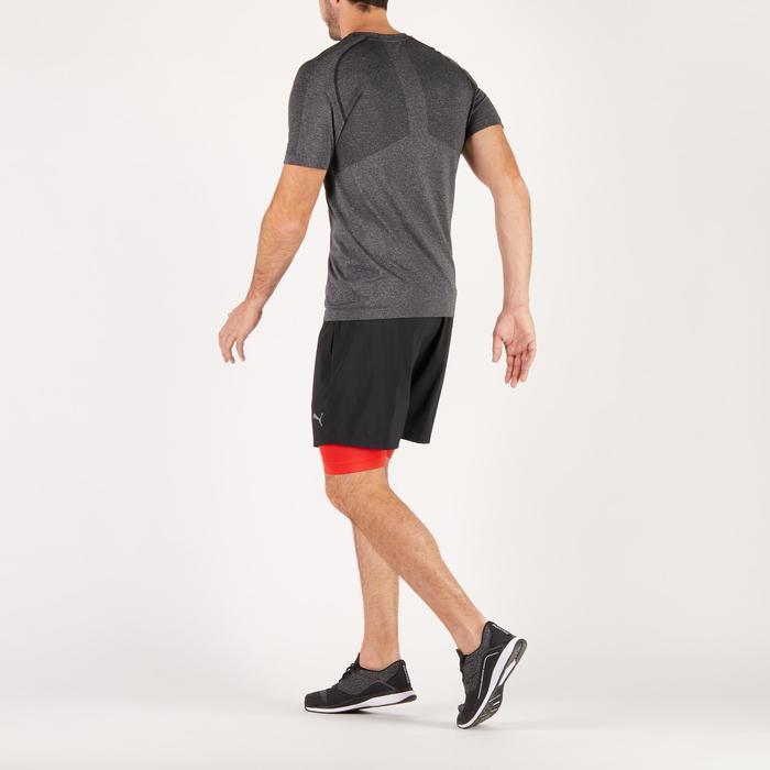 T-shirt PUMA fitness cardio homme Evoknit gris - 1271661