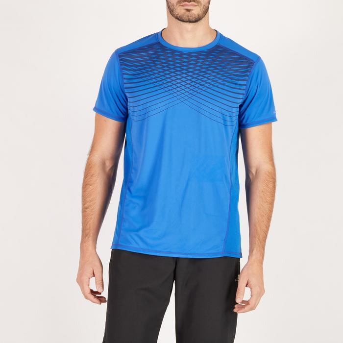 T-shirt fitness cardio homme noir imprimé FTS 120 - 1271666