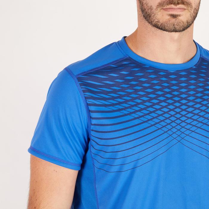 T-shirt fitness cardio homme noir imprimé FTS 120 - 1271685