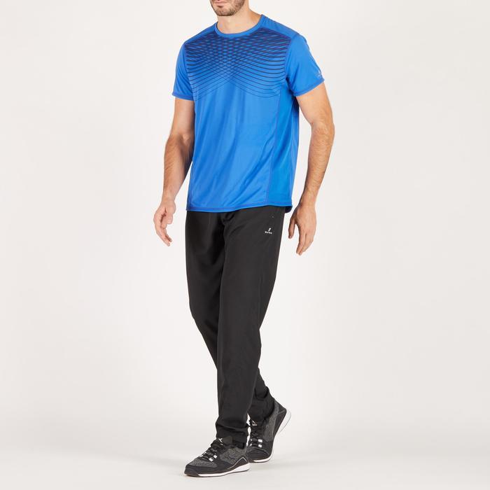 T-shirt fitness cardio homme noir imprimé FTS 120 - 1271688