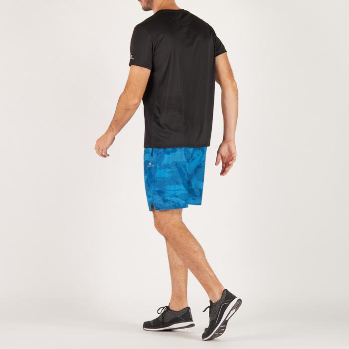 T-shirt fitness cardio homme noir imprimé FTS 120 - 1271700