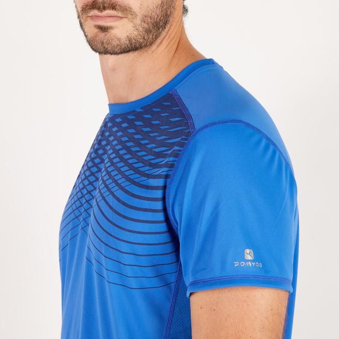 T-shirt fitness cardio homme noir imprimé FTS 120 - 1271702