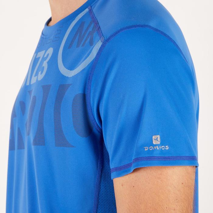 T-shirt fitness cardio homme noir imprimé FTS 120 - 1271733