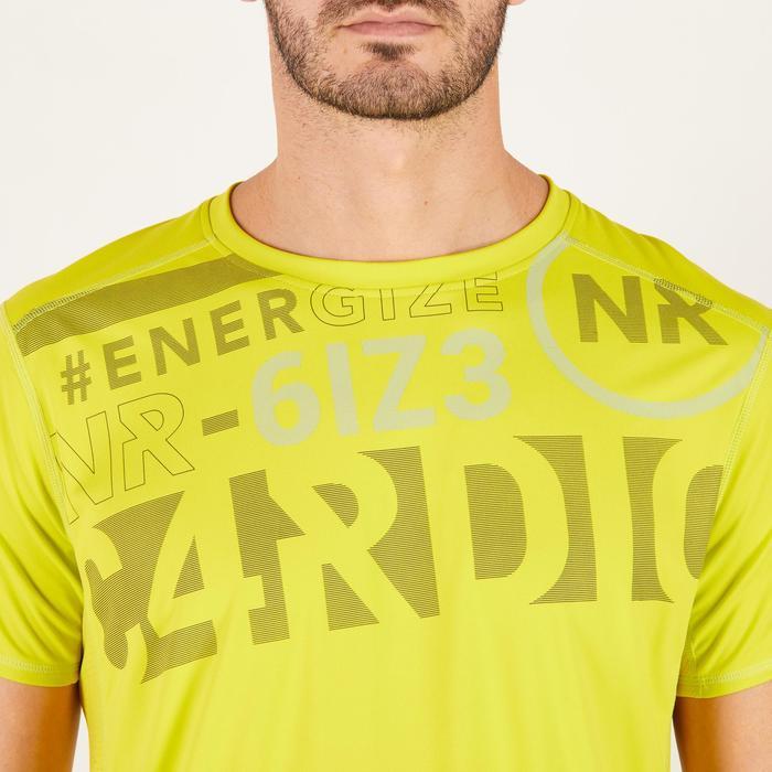 T-shirt fitness cardio homme noir imprimé FTS 120 - 1271734
