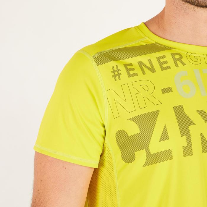 T-shirt fitness cardio homme noir imprimé FTS 120 - 1271739