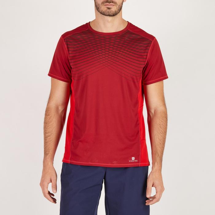 T-shirt fitness cardio homme noir imprimé FTS 120 - 1271740