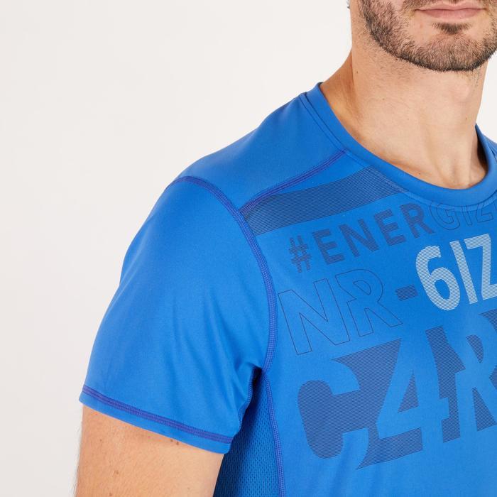 T-shirt fitness cardio homme noir imprimé FTS 120 - 1271746