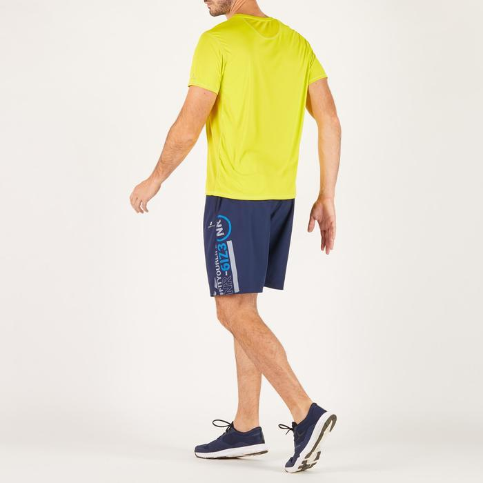 T-shirt fitness cardio homme noir imprimé FTS 120 - 1271748