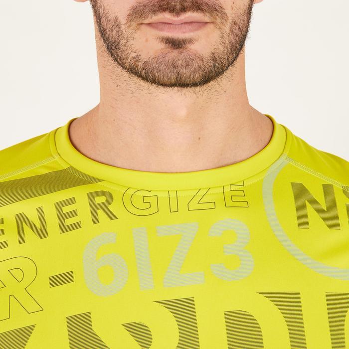 T-shirt fitness cardio homme noir imprimé FTS 120 - 1271755