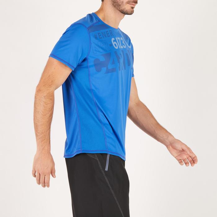 T-shirt fitness cardio homme noir imprimé FTS 120 - 1271758