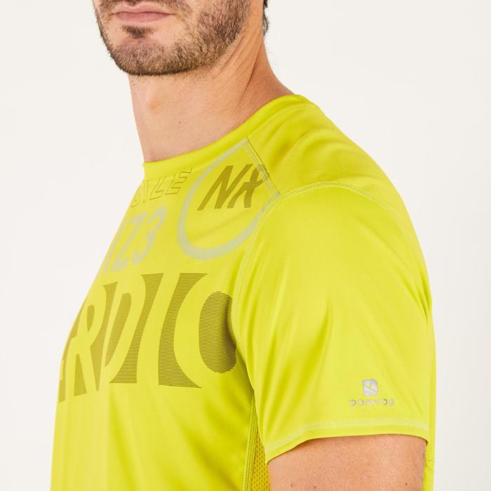 T-shirt fitness cardio homme noir imprimé FTS 120 - 1271765