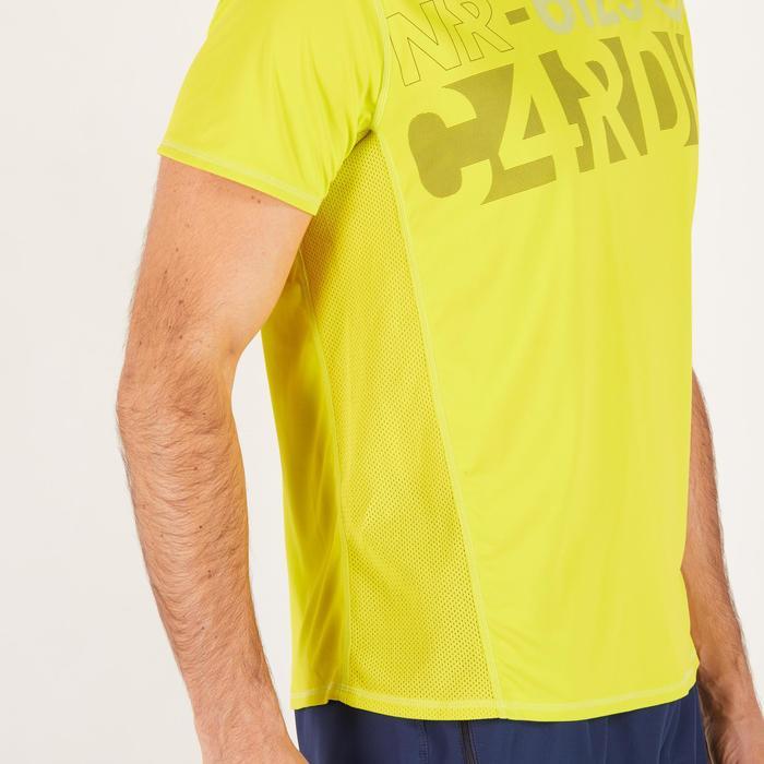 T-shirt fitness cardio homme noir imprimé FTS 120 - 1271769