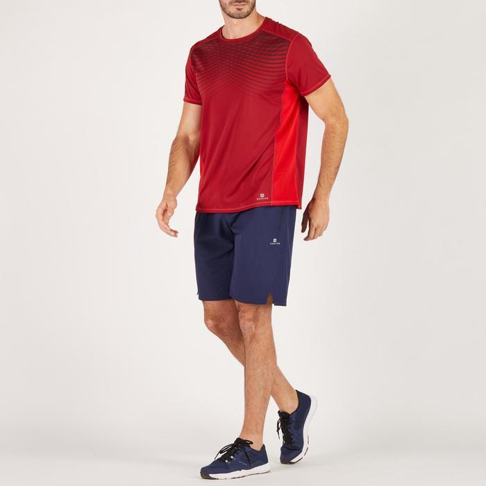 T-shirt fitness cardio homme noir imprimé FTS 120 - 1271771