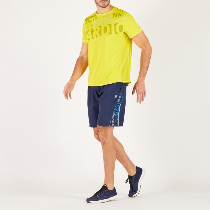 T-shirt fitness cardio homme noir imprimé FTS 120 - 1271772