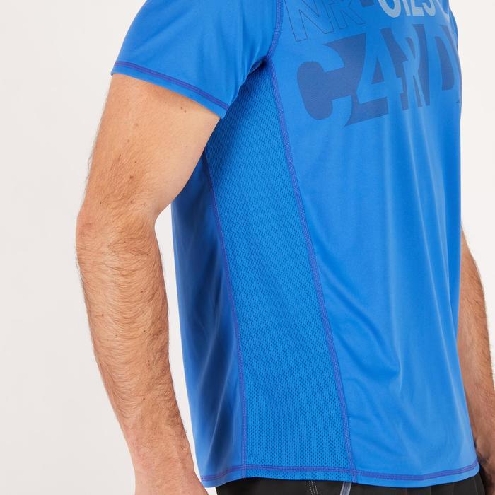 T-shirt fitness cardio homme noir imprimé FTS 120 - 1271784