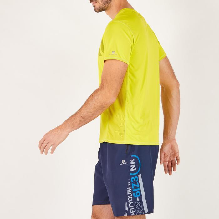 T-shirt fitness cardio homme noir imprimé FTS 120 - 1271789