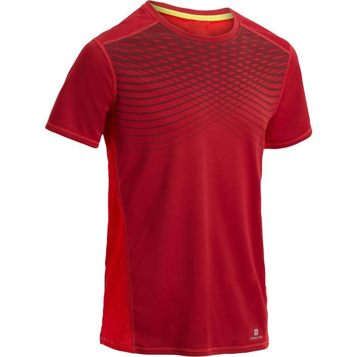 T-shirt fitness cardio homme noir imprimé FTS 120 - 1271796