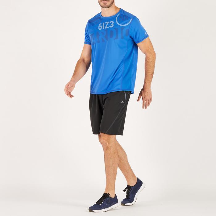 T-shirt fitness cardio homme noir imprimé FTS 120 - 1271802
