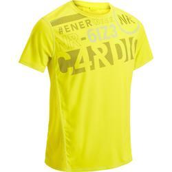 Fitness T-shirt FTS120 voor heren, voor cardiotraining, geel