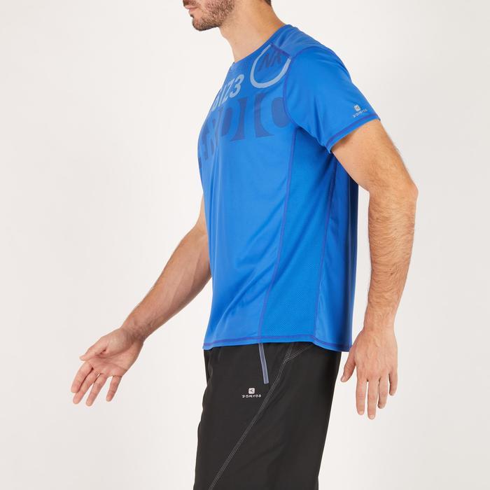 T-shirt fitness cardio homme noir imprimé FTS 120 - 1271812
