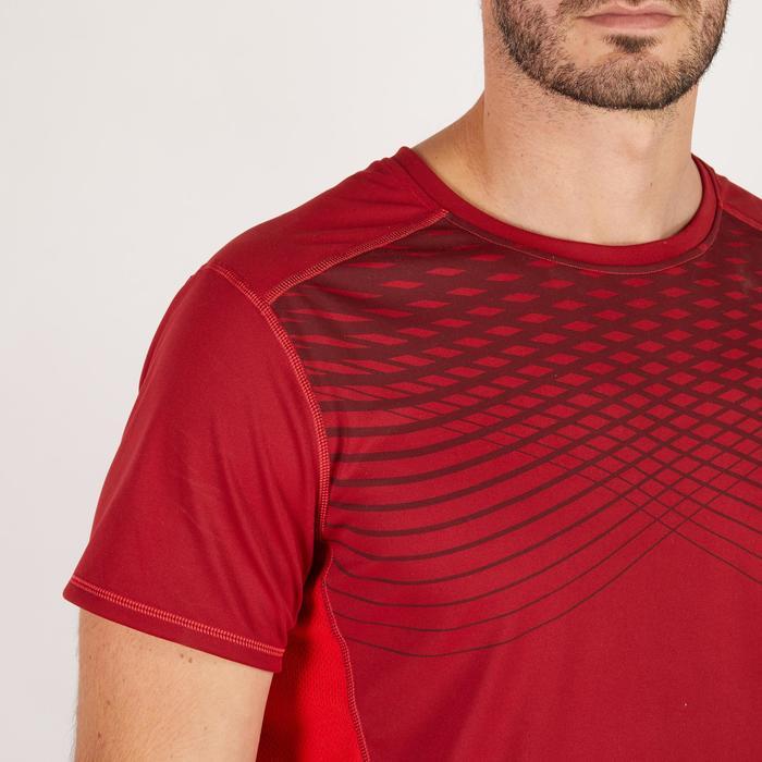 T-shirt fitness cardio homme noir imprimé FTS 120 - 1271823