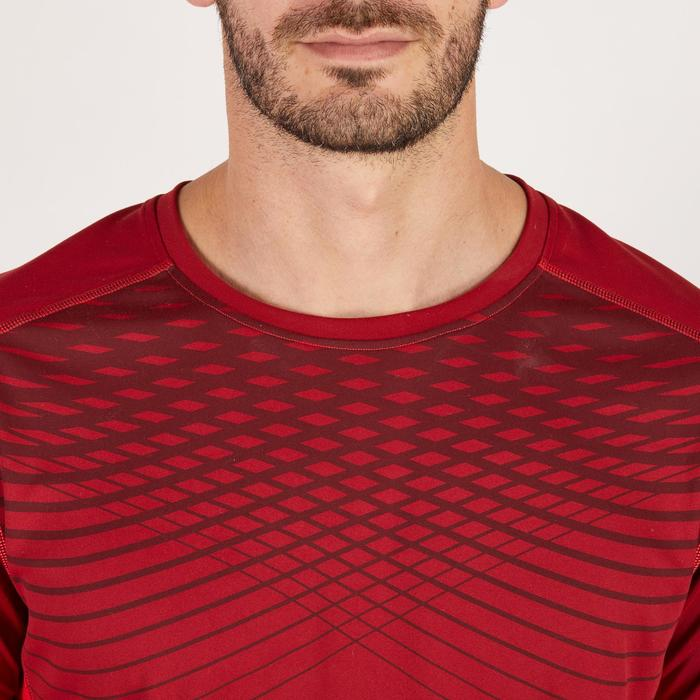 T-shirt fitness cardio homme noir imprimé FTS 120 - 1271835