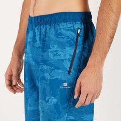 Short fitness cardio hombre azul estampado FST500