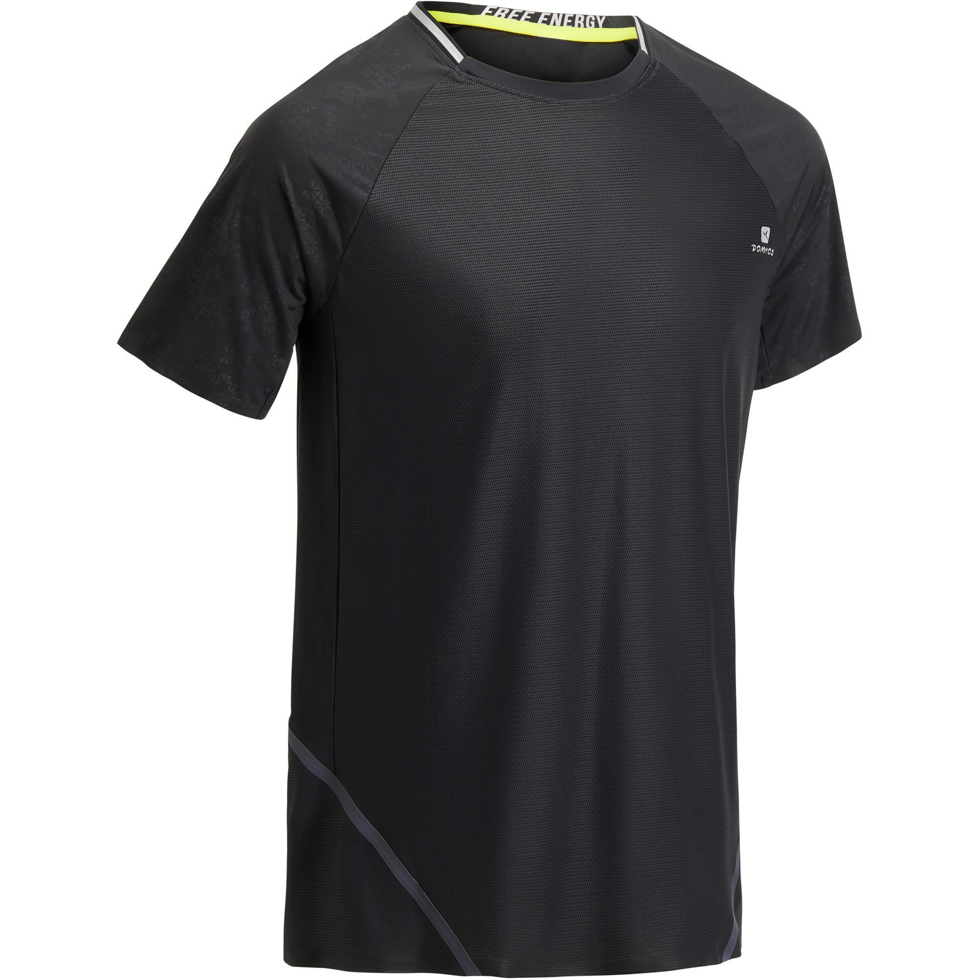6c1737ca633 ... Domyos T-shirt fitness cardio heren lichtgrijs FTS920 kopen met voordeel