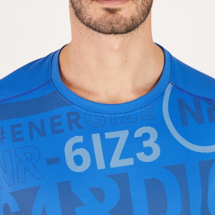 T-shirt fitness cardio homme noir imprimé FTS 120 - 1271870