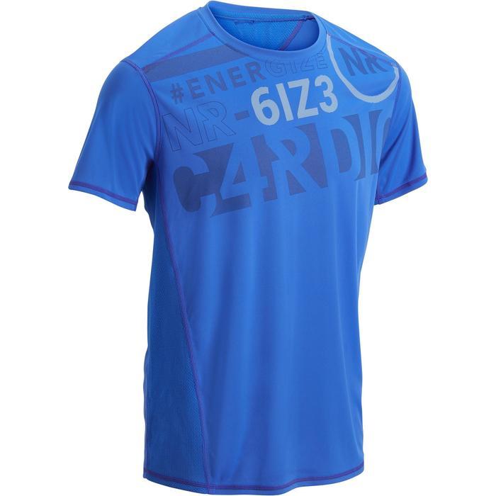 T-shirt fitness cardio homme noir imprimé FTS 120 - 1271874
