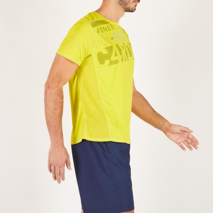T-shirt fitness cardio homme noir imprimé FTS 120 - 1271875