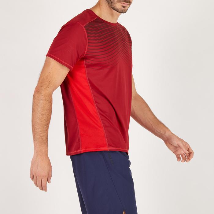 T-shirt fitness cardio homme noir imprimé FTS 120 - 1271876