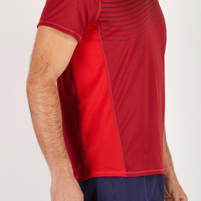 T-shirt fitness cardio homme noir imprimé FTS 120 - 1271879
