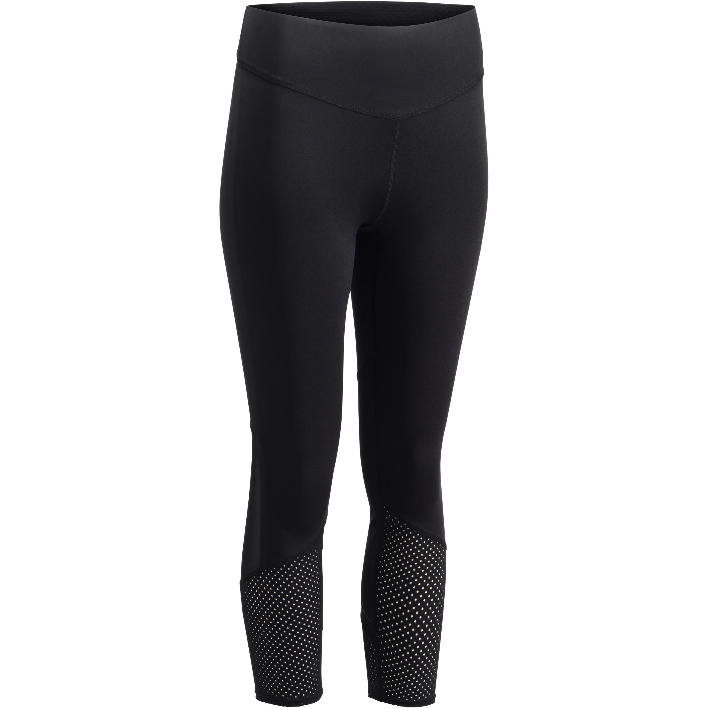 Legging 7/8 entraînement cardio femme noir 900
