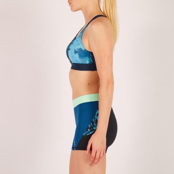 Brassière fitness cardio femme imprimés géométriques noirs 500 Domyos - 1271907