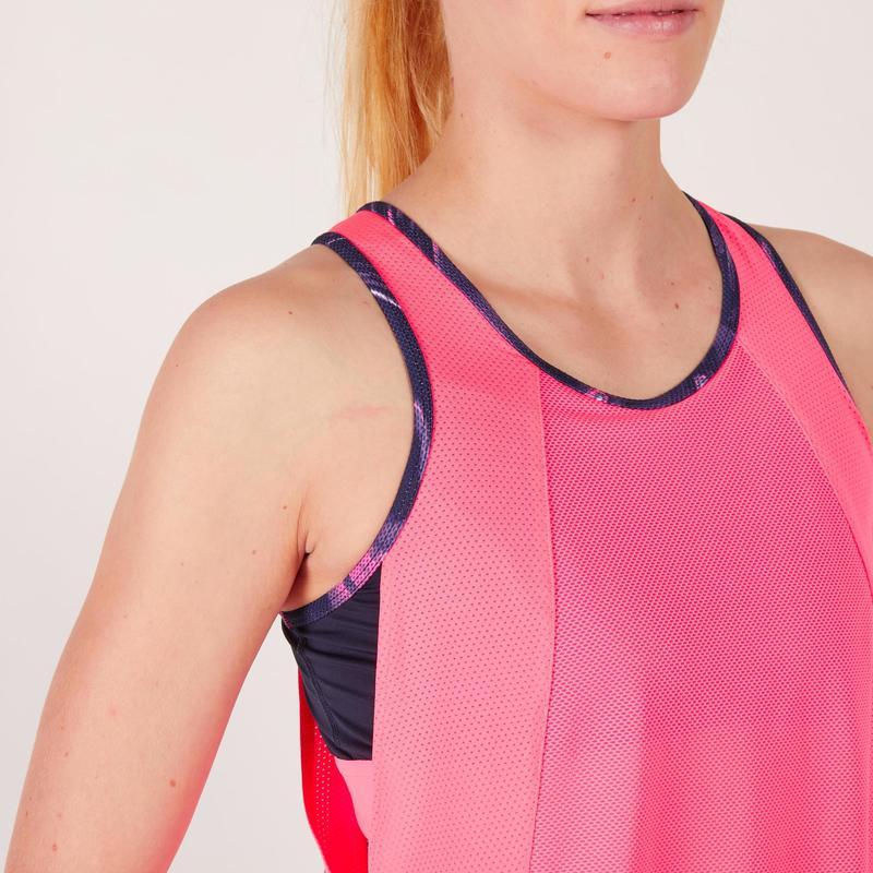 diseño elegante comprar popular Productos - Camiseta s/m sujetador-top integrado fitness cardio mujer rosa fluo 500  Domyos