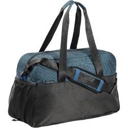 Tas voor cardiofitness 30 liter petroleumblauw en zwart