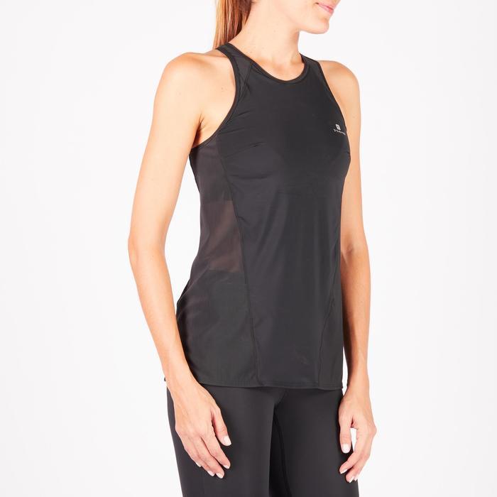 Débardeur brassière intégrée fitness cardio-training femme noir 900 - 1271972