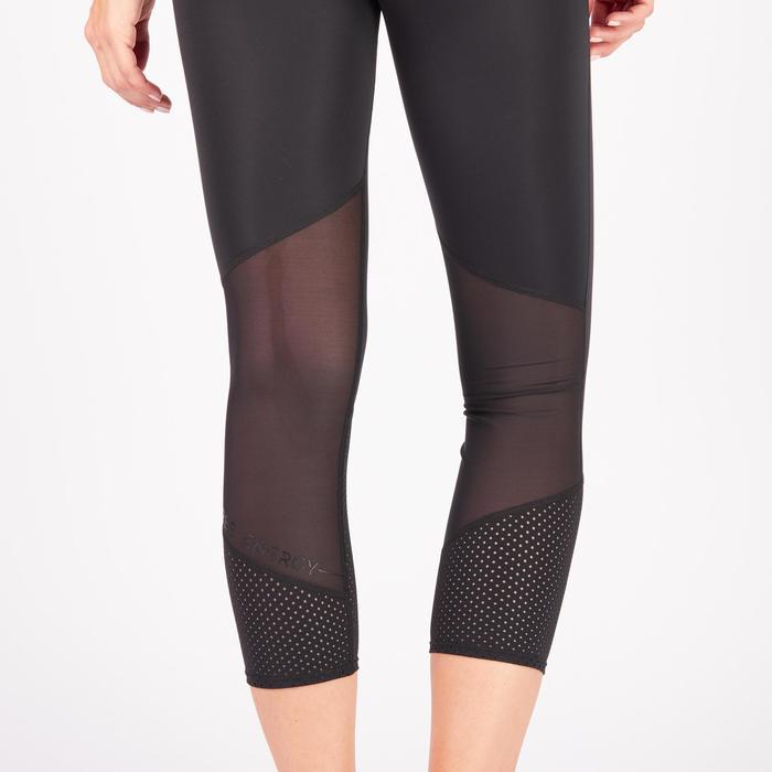 Legging 7/8 fitness cardio-training femme noir 900