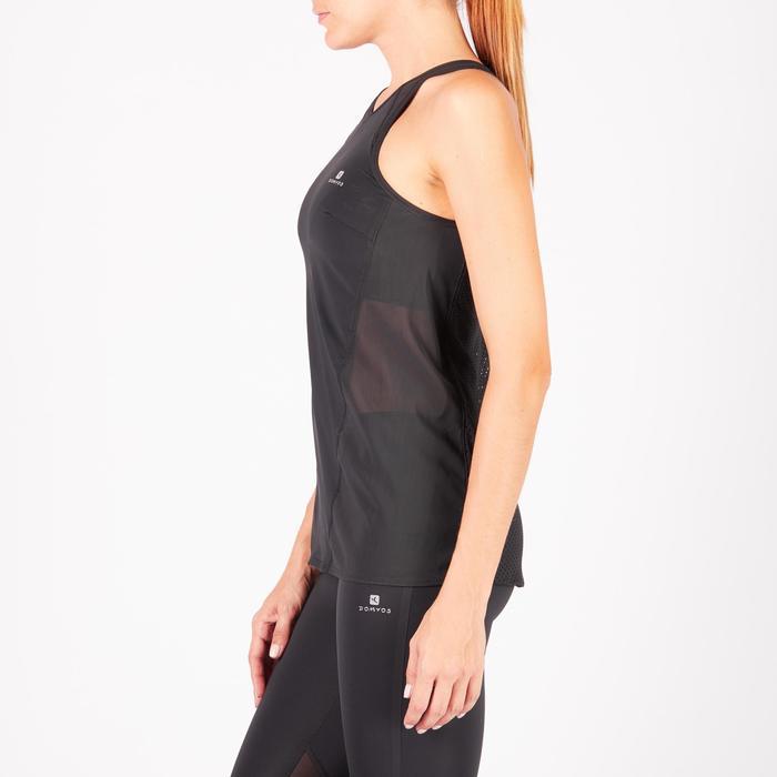 Débardeur brassière intégrée fitness cardio-training femme noir 900 - 1271985