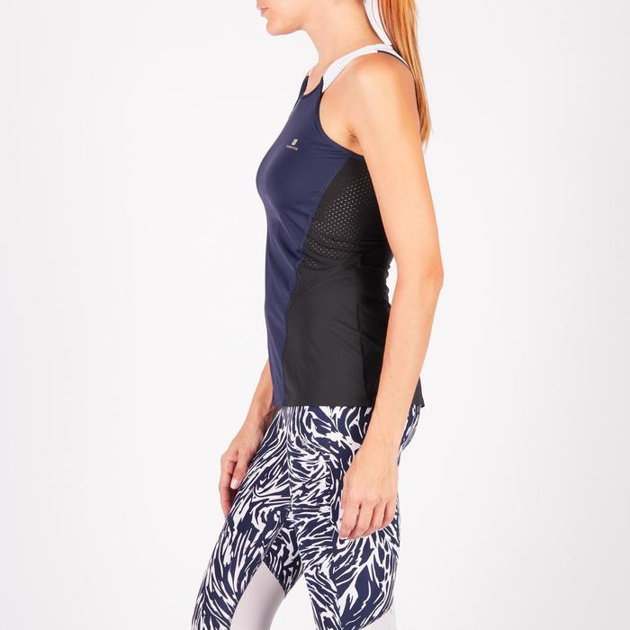 Damestop fitness cardiotraining 900 blauw met witte accenten