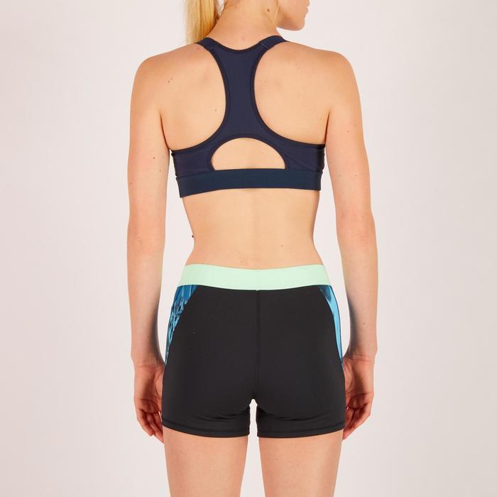 Brassière fitness cardio femme imprimés géométriques noirs 500 Domyos - 1271996