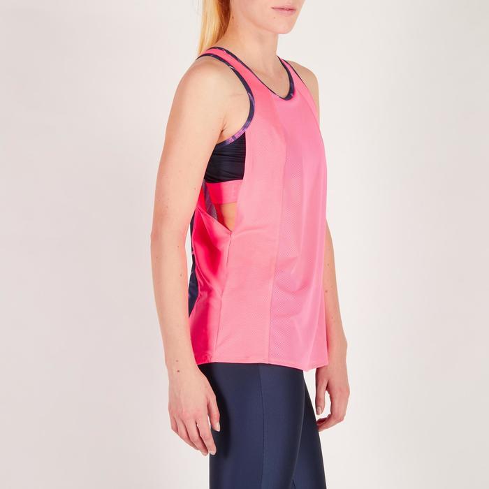Cardiofitness top 500 met ingewerkte beha voor dames fluoroze Domyos