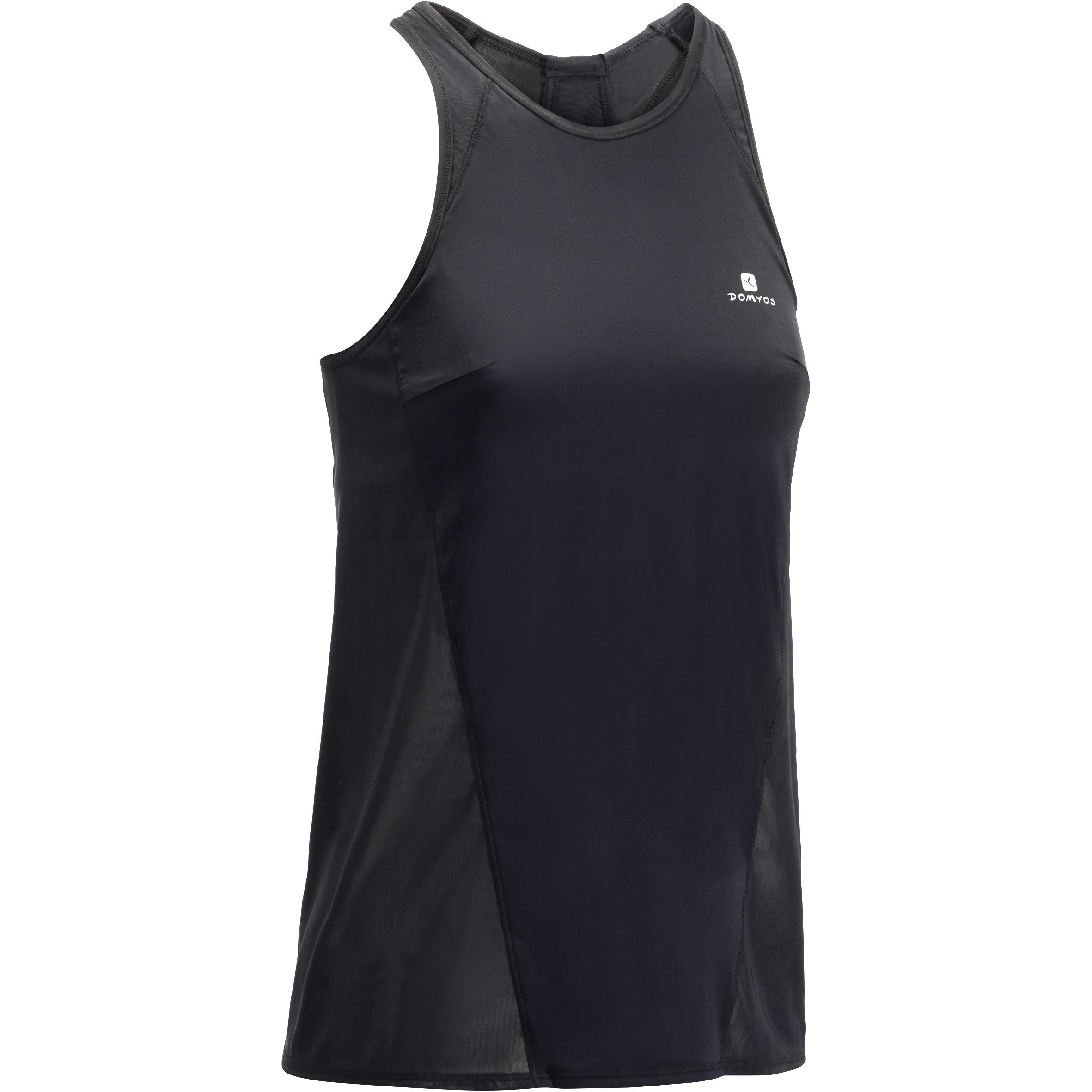 900 Women's Cardio Fitness Tank Top with Built-in Bra - Black