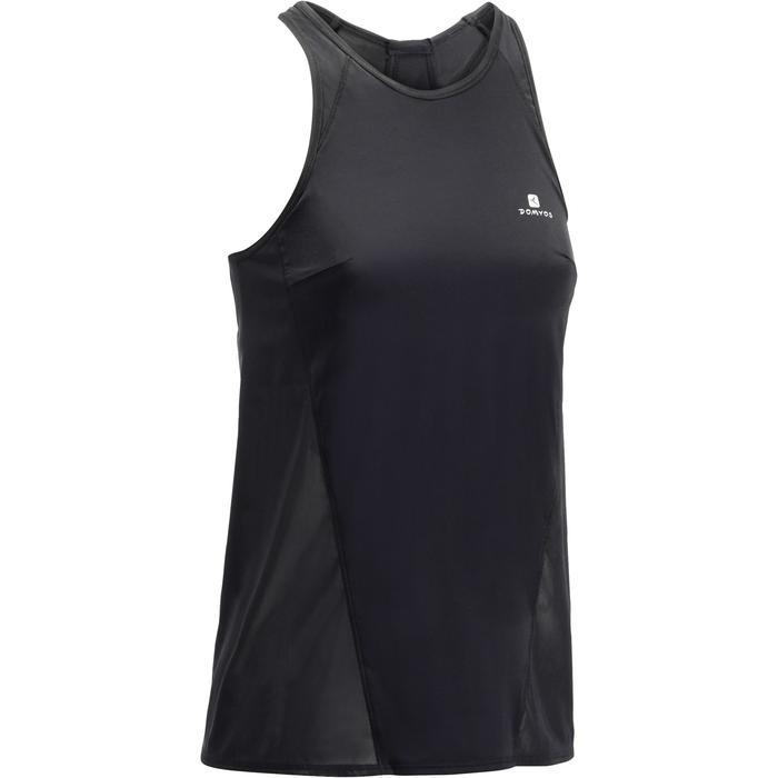 Débardeur brassière intégrée fitness cardio-training femme noir 900 - 1272017