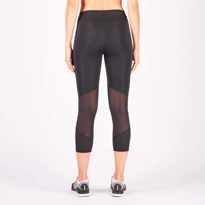Leggings 7/8 cardio fitness mujer negro 900