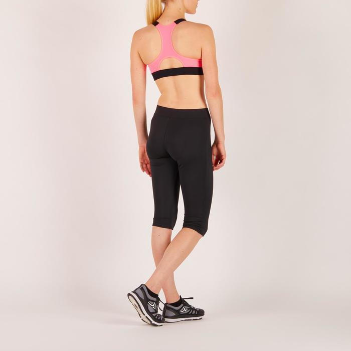 Brassière fitness cardio femme imprimés géométriques noirs 500 Domyos - 1272059