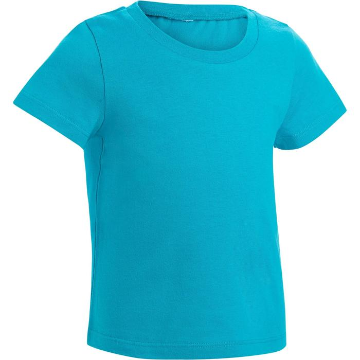 Lot x2 T-Shirt 100 manches courtes Gym Baby imprimé blanc bleu - 1272146