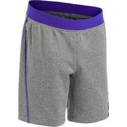 Pantalón Corto Chándal Short Domyos GSH560 Bebé 12 Meses - 6 Años Gris/Azul