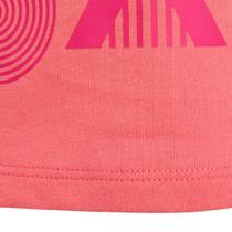 932a29f094f Dětské tričko 100 na cvičení s krátkým rukávem růžové s potiskem ...